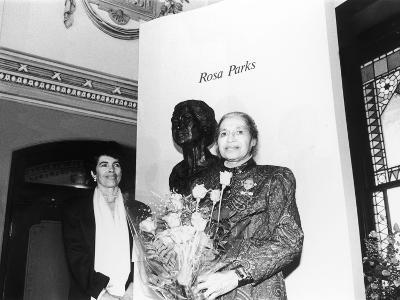 Rosa Parks, Sculpture at its Unveiling, Smithsonian Institute's National Portrait Gallery, 1991