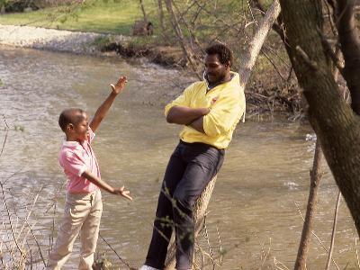 Walter Payton and Son Jarrett, 1986