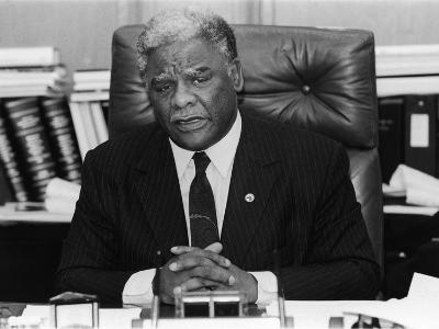 Harold Washington, During an Office Interview, 1987