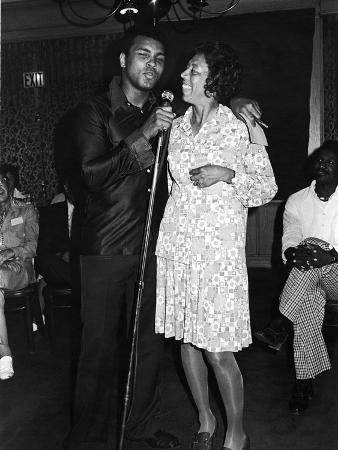 Muhammad Ali,  Althea Gibson, July, 1975