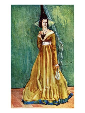 Woman's Costume in Reign of Edward IV (1461-1483)