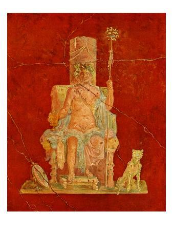 Dionysus Seated on a Throne