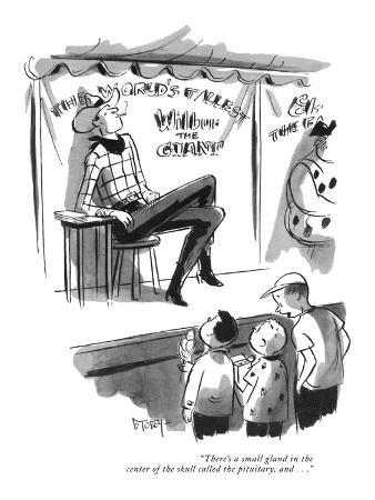 """""""There's a small gland in the center of the skull called the pituitary, an…"""" - New Yorker Cartoon"""