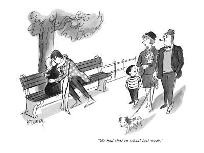 """""""We had that in school last week."""" - New Yorker Cartoon"""