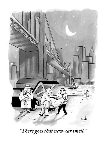 """There goes that new-car smell."" - New Yorker Cartoon"