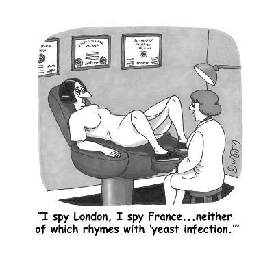 """""""I spy London, I spy France...neither of which rhymes with 'yeast infectio - Cartoon"""