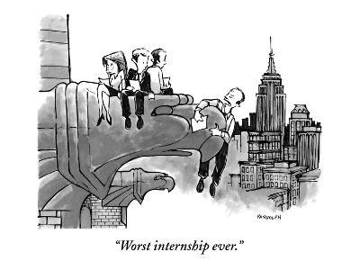 """Worst internship ever."" - New Yorker Cartoon"