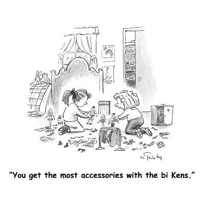 """You get the most accessories with the bi Kens."" - Cartoon"
