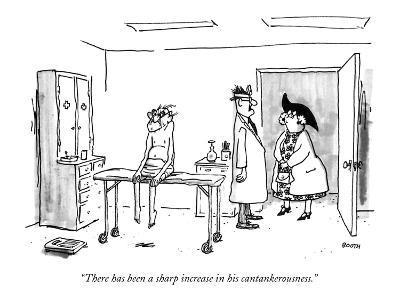 """""""There has been a sharp increase in his cantankerousness."""" - New Yorker Cartoon"""