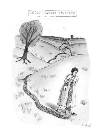 Cross-Country Knitting - New Yorker Cartoon