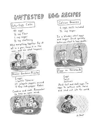 Untested Egg Recipes - New Yorker Cartoon