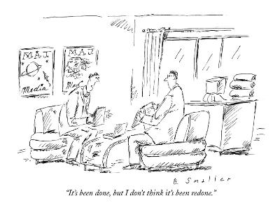 """""""It's been done, but I don't think it's been redone."""" - New Yorker Cartoon"""