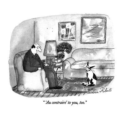 """ 'Au contraire' to you, too."" - New Yorker Cartoon"