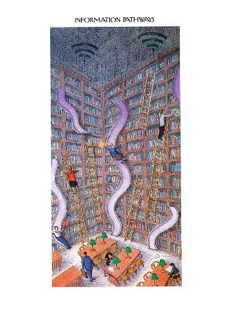 INFORMATION PATHWAYS. - New Yorker Cartoon