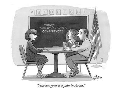 """Your daughter is a pain in the ass."" - New Yorker Cartoon"