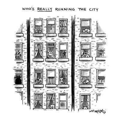"""Who's Really Running the City"" - New Yorker Cartoon"