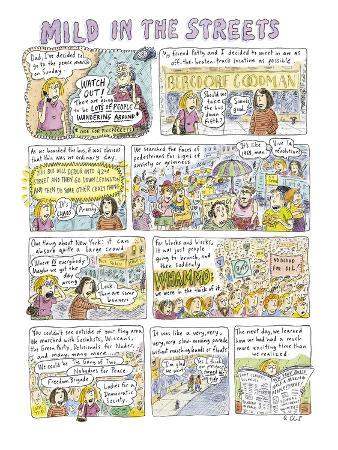 """Mild in the Streets"" - New Yorker Cartoon"