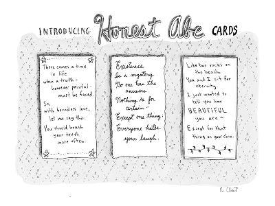 """Introducing Honest Abe Cards"" - New Yorker Cartoon"