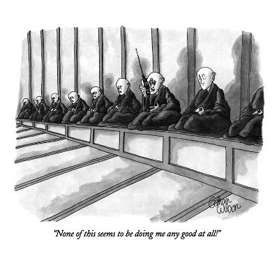 """None of this seems to be doing me any good at all!"" - New Yorker Cartoon"