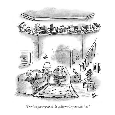 """I noticed you've packed the gallery with your relatives."" - New Yorker Cartoon"