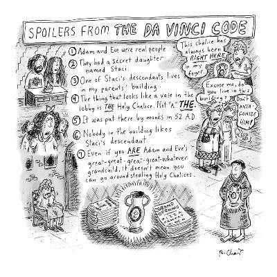 Spoilers from the Da Vinci Code - New Yorker Cartoon
