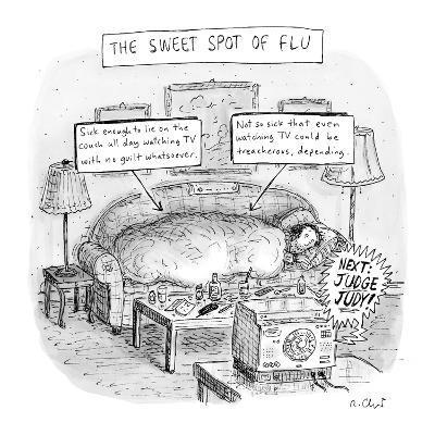 The Sweet Spot of Flu - New Yorker Cartoon