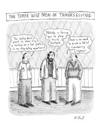 The Three Wise Men of Thanksgiving - New Yorker Cartoon