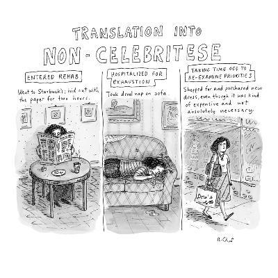 Translation into Non-Celebritese - New Yorker Cartoon