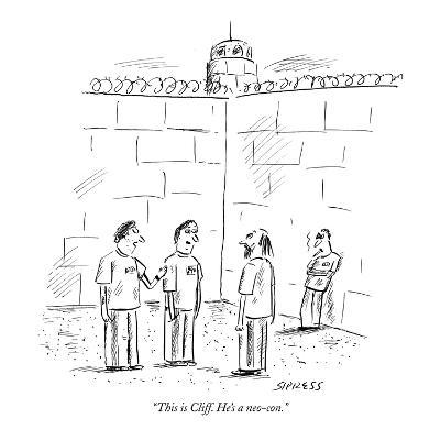 """This is Cliff. He's a neo-con."" - New Yorker Cartoon"