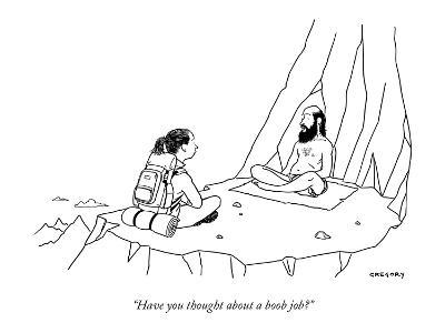"""Have you thought about a boob job?"" - New Yorker Cartoon"