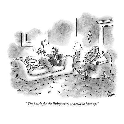 """""""The battle for the living room is about to heat up."""" - New Yorker Cartoon"""