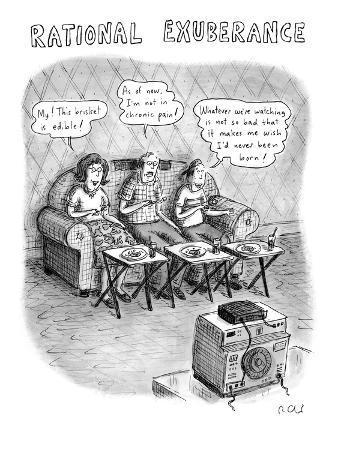"""Rational Exuberance"" - New Yorker Cartoon"