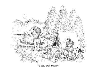 """""""I love this planet!"""" - New Yorker Cartoon"""