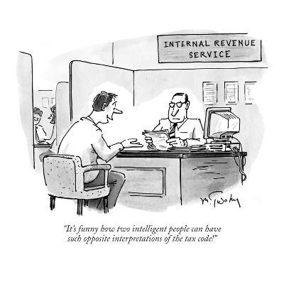"""""""It's funny how two intelligent people can have such opposite interpretati…"""" - New Yorker Cartoon"""