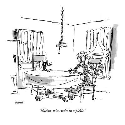 """""""Nation-wise, we're in a pickle."""" - New Yorker Cartoon"""