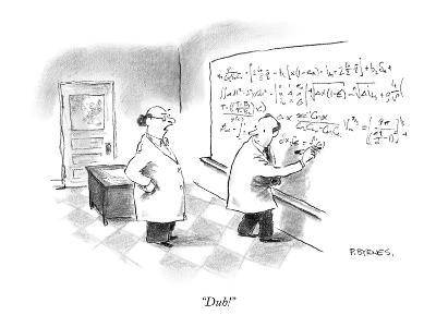 """Duh!"" - New Yorker Cartoon"