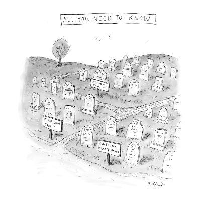 All You Need To Know - New Yorker Cartoon
