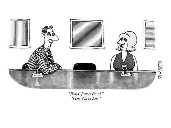 Bond James Bond Hell Go To Hell New Yorker Cartoon