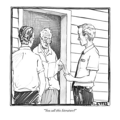 """""""You call this literature?"""" - New Yorker Cartoon"""