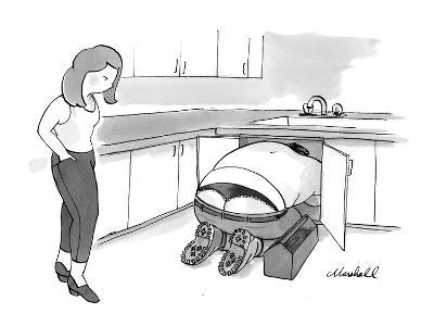A plumber is wearing a thong. - New Yorker Cartoon