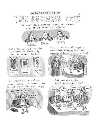 Introducing The Business Café The Only High Finance Theme Restaurant