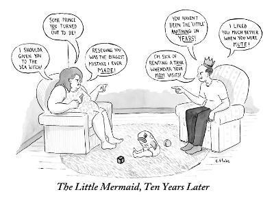 The Little Mermaid, Ten Years Later - New Yorker Cartoon