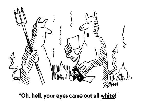 Oh Hell Your Eyes Came Out All White Cartoon Premium Giclee