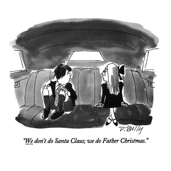 Image result for father christmas cartoon new yorker