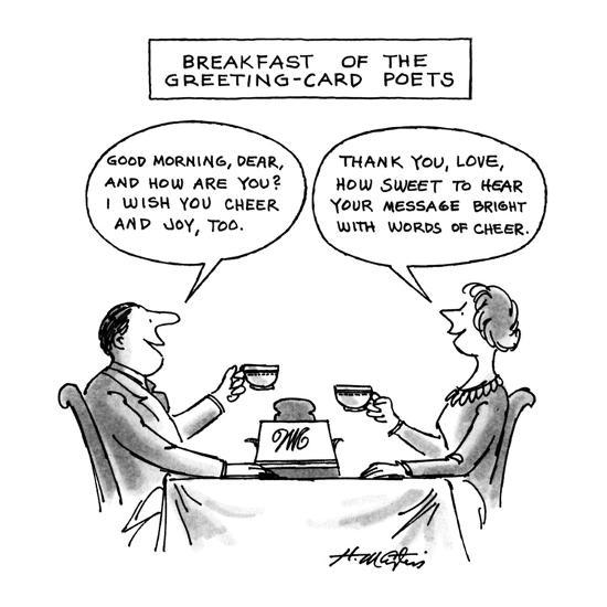 Breakfast of the greeting card poets new yorker cartoon premium breakfast of the greeting card poets new yorker cartoon m4hsunfo