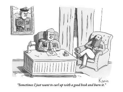 """""""Sometimes I just want to curl up with a good book and burn it."""" - New Yorker Cartoon"""