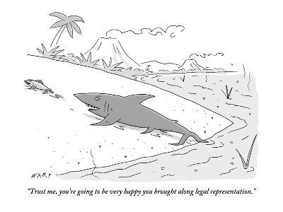 """""""Trust me, you're going to be very happy you brought along legal represent…"""" - New Yorker Cartoon"""