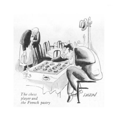 The chess player and the French pastry - New Yorker Cartoon
