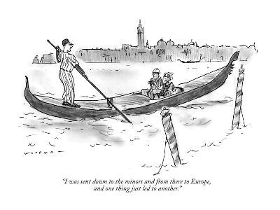 """""""I was sent down to the minors and from there to Europe, and one thing jus…"""" - New Yorker Cartoon"""