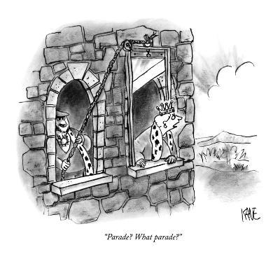 """""""Parade? What parade?"""" - New Yorker Cartoon"""